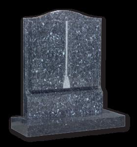 ET87 - Blue Pearl Granite Book Headstone Image
