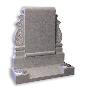 ET56 - Scroll Headstone with Carved Design Image