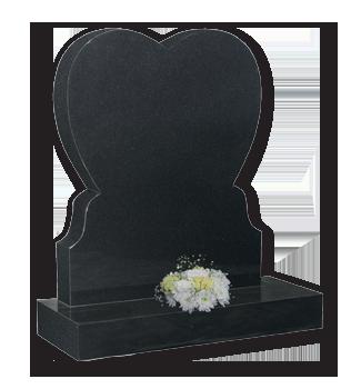 ET98 - Simple Heart Headstone Image