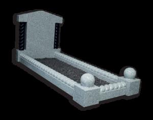 ET60 - Barley Twist Kerbed Memorial with Columns Image